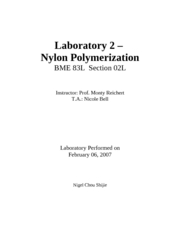 BME83 nylon  Lab 2