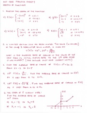 Practice Sheet 4 Graphs of Functions and Answer Key