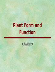Plants-Ch 9&11