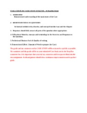 EVALUATION CRITERIA FOR CASE STUDY ANALYSIS0
