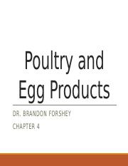 Lecture 4 - Poultry and Egg Products