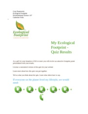 my ecological footprint brianna depalma my ecological footprint quiz results if everyone on. Black Bedroom Furniture Sets. Home Design Ideas