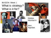 Strategy Week 1's Lecture