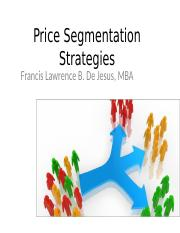Price Segmentation Strategies