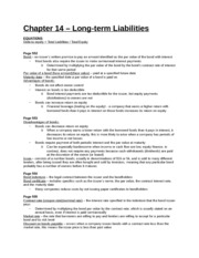 Study Guide - Chapter 14 - Long-term Liabilities
