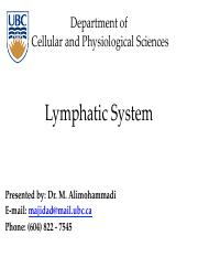 (21) Lymphatic System0