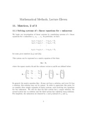 MA Lecture 11 - Matrices 2