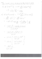Homework Derivatives and Physics