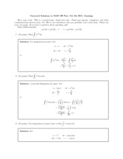 Exam 2 Solutions 2011