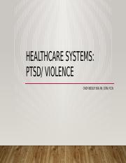 Healthcare systems- Violence,PTSD student.pptx