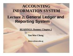 Lecture 2 GL and Reporting System
