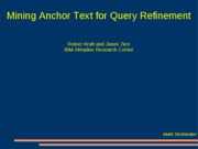 Mining-Anchor-Text