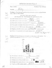 Exam #3 Solutions
