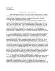 Globalization and Urban Livability Reflection Papers