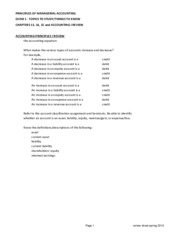 Review Sheet - EXAM 1 - CH. 13, 14, 15(1)