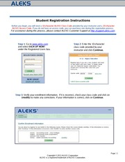 ALEKS Registration Instructions