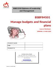 BSBFIM501 LEARNER WORKBOOK VERSION 1.4- MAY 2020.docx