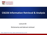 Lecture03-Tolerant-retrieval