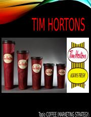 marketing TIM HORTONS