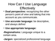 How Can I Use Language Effectively speech lecture notes power point