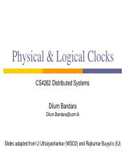 08 - Physical  Logical Clocks