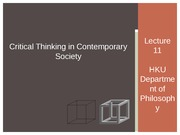 Critical Thinking 2014_15 SEM 1 Lecture 10