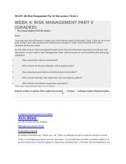 MGMT 404 Risk Management Part II Discussions 2 Week 4 - Copy.docx