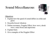 Sound-Miscellaneous-Notes