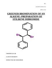 bromination of alkenes stilbene tribromide Stilbene is brominated using pyridinium tribromide chemistry lab at eastern kentucky university, us wwwyoutubecom/user/ekuchemlab.