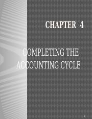 Chapter 4 - Completing the Accounting Cycle
