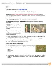 Get the Gizmo ready Click Reset Question How do animals ...