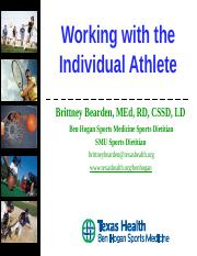 Working with the Individual Athlete.ppt