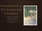 Intro to envrionmental chemistry
