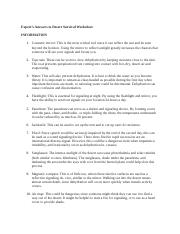 Expert's Answers to Desert Survival Worksheet.docx