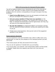 MATH 129 Instructions for Homework Review Leaders (1).docx