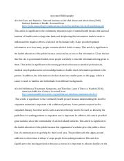 Annotated Bibliography Alcohol Withdrawal in the Acute Care Setting.docx