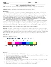 Lab - Acids and Bases-household chemical pH