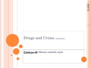 Drugs and Crime 2