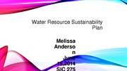 Water Resource Sustainability Plan
