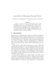 Associativity in Descriptive Potential Theory