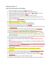 child psych - exam 2 study guide .docx