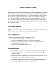 Final Project - Subway business plan