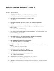 Review Questions - Booch - Chapter 9 Hanson.docx