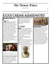 JULIUS CAESAR NEWSPAPER TEMPLATE.pdf