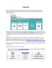 Instructions for completing Haven training (1)