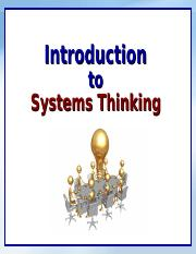 Systems Thinking - Intro.ppt