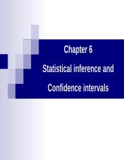 Chapter6 Confidence intervals.ppt