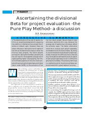pure play method