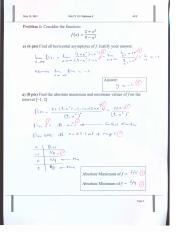 Solution and Key of Midterm 3