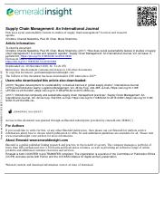 How does social sustainability feature in studies of supply chain management.pdf